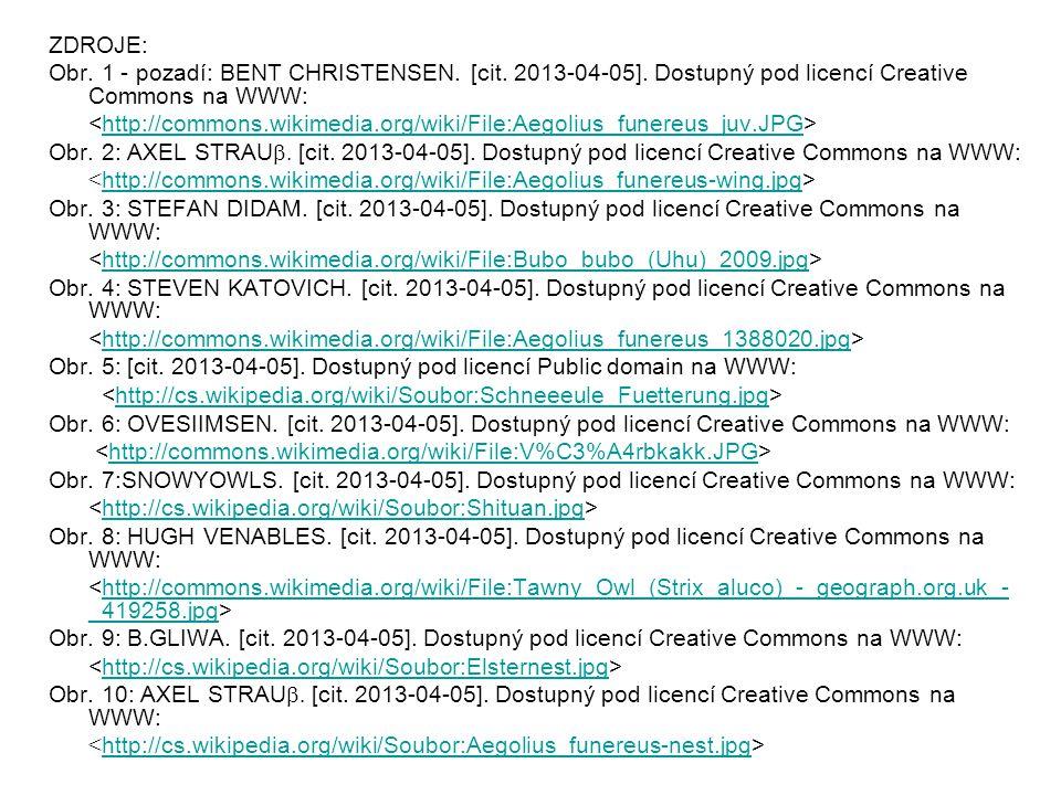 ZDROJE: Obr. 1 - pozadí: BENT CHRISTENSEN. [cit. 2013-04-05]. Dostupný pod licencí Creative Commons na WWW:
